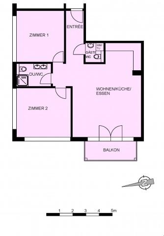 Frisch sanierte, moderne 3.5-Zimmerwohnung zu vermieten 25201232