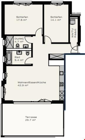 Familienfreundliche 3.5 Attika-Zimmer Wohnung in Adlikon nah 26652031