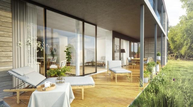 Wohnhallen im Grünen - 3 MFH mit je 3 Wohnungen - Baubeginn  28376289
