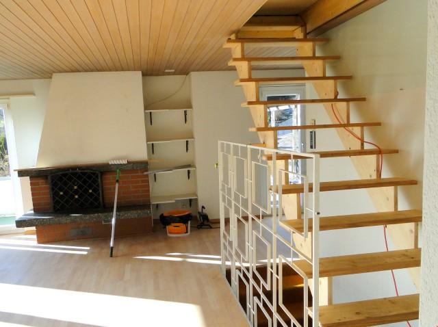 Treppe zum Dachstock