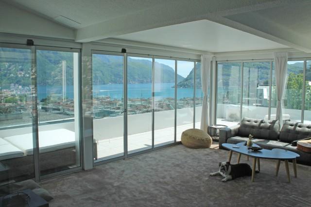 Lugano, elegante e raffinato attico con vista lago 32262512