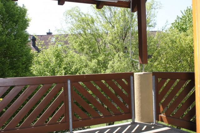 Balkon mit Sicht ins Grüne