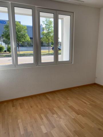 Helles Wohnzimmer mit hübschem Ausblick