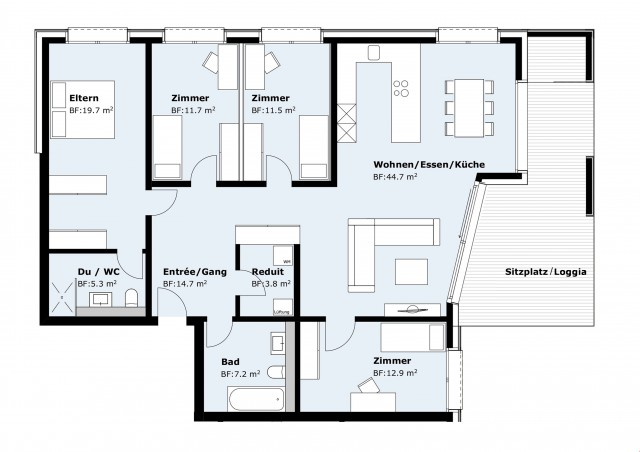 4 1/2 bis 5 1/2-Zimmerwohnung zu verkaufen 23310769