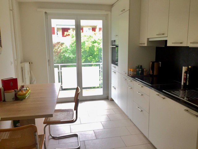 Schöne 3 Zimmer-Wohnung mit grossem Balkon mit Abdendsonne 24448531