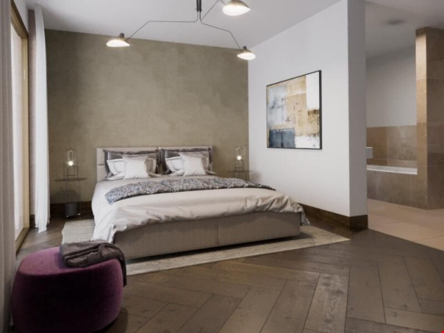 Schlafzimmer mit en suite Bad