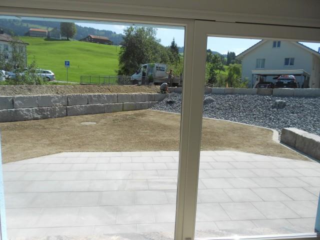 Sitzplatz aus der Sicht der Wohnzimmers