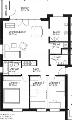 4.5 Zimmer-Wohnung mit 101m2 24435725