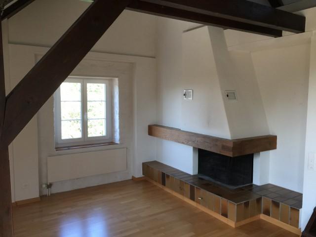 Wohnzimmer mit Chminée