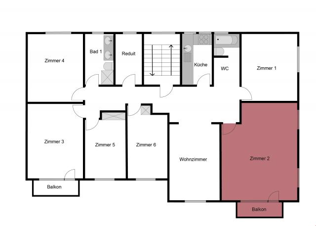 30m2 grosses WG-Zimmer mit Balkon 19668836