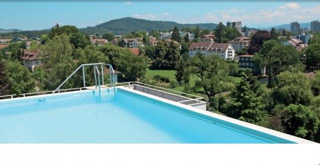Schwimmen auf dem Dach 27889213