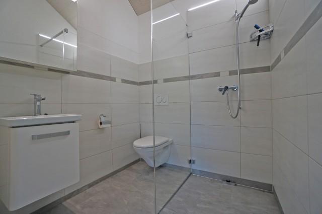 Nasszelle mit Dusche / Toilette