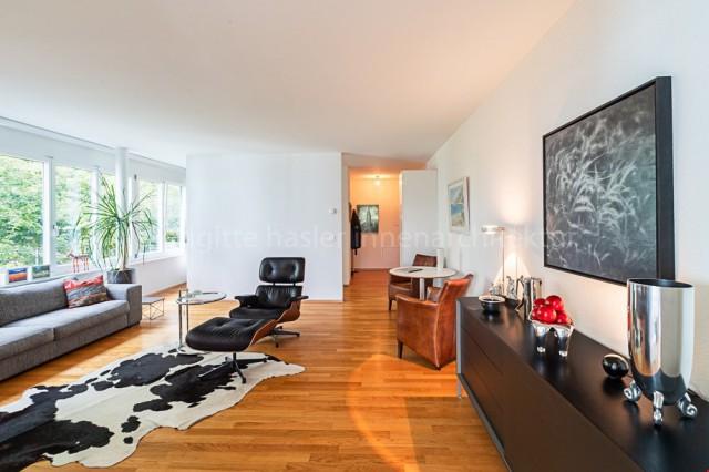 Moderne 2-Zimmer-Wohnung mit idyllischer Terrasse an begrünt 25188355