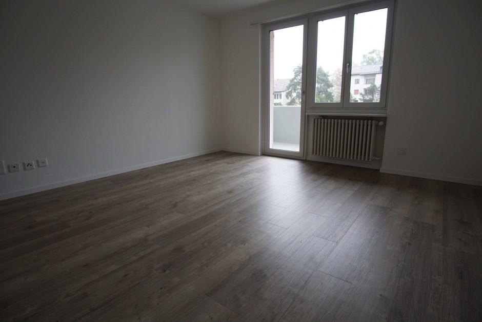 Miete: grosse und sonnige Wohnung mit Balkon