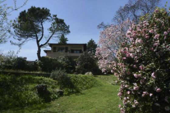 Ansicht des Hauses vom unteren Garten
