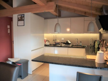 Appartement 31/2 pces (combles) - Balcon terrasse avec vue