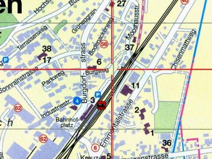 Lageplan Burgweg Ausschnitt