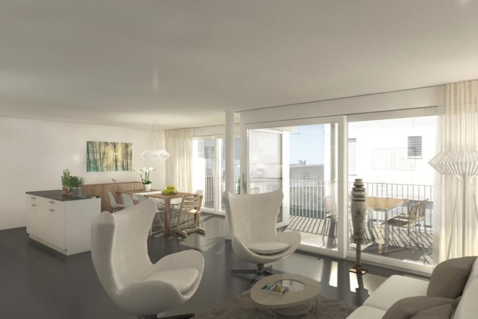 attraktive neubauwohnung an bester lage in muhen. Black Bedroom Furniture Sets. Home Design Ideas