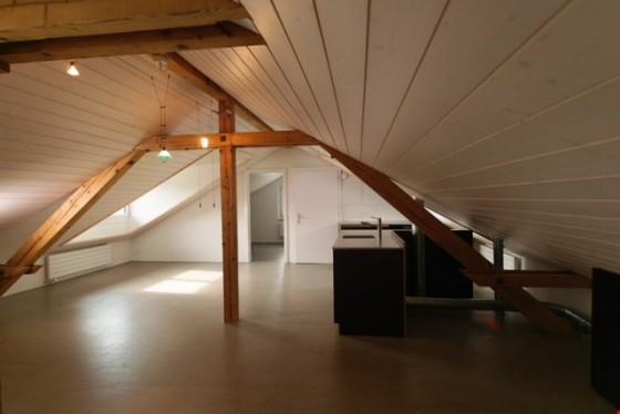 Charmante Dachwohnung mit neuer Küche ; Ess- & Wohnbereich