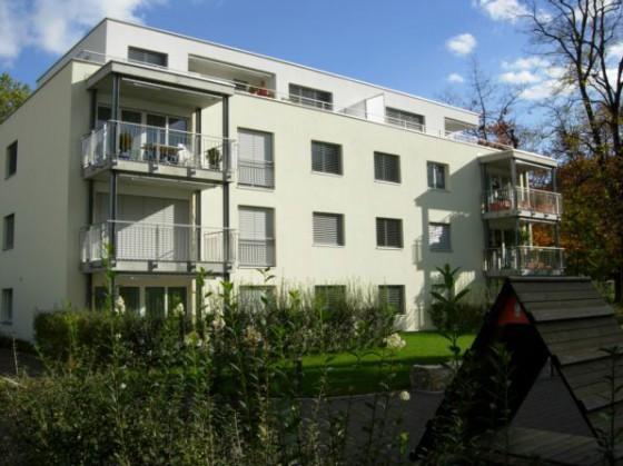 Rückansicht der Liegenschaft Burggartenstrasse 34, Pratteln