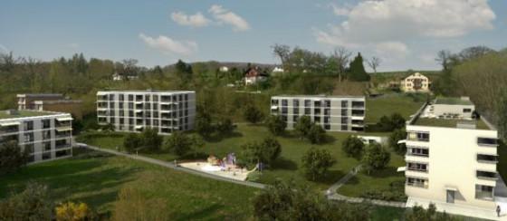 Wohnpark Rosengarten - Ansicht Häuser D - C - B - A