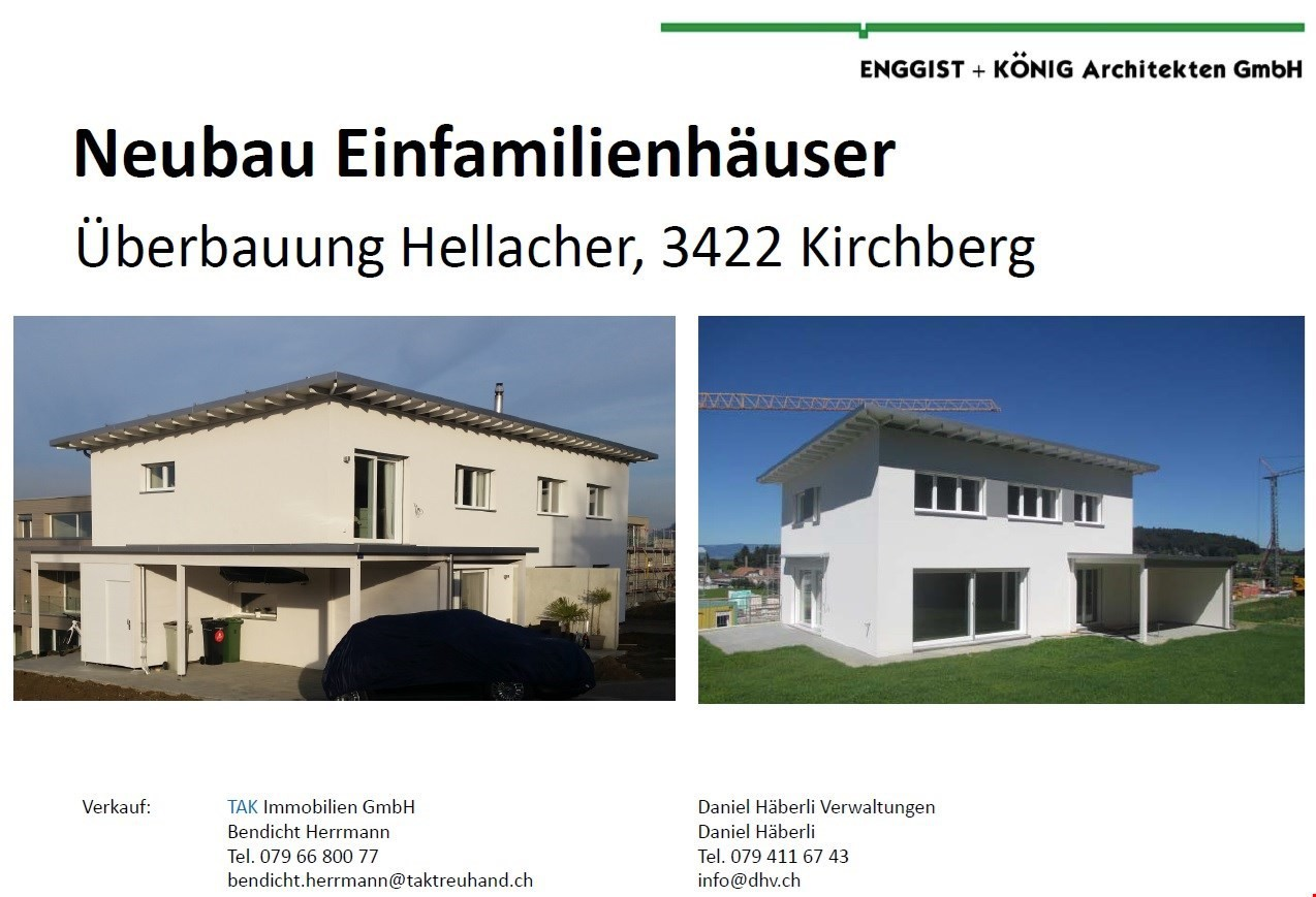 Neubau Einfamilienhäuser an top Lage in Kirchberg - ImmoScout24