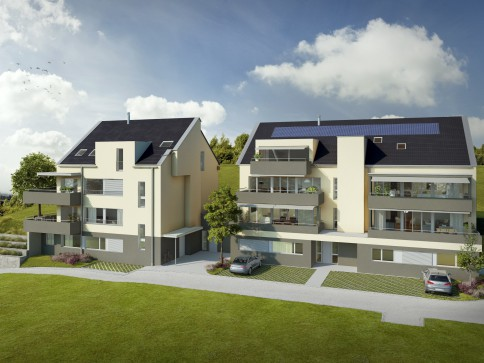 Neubau in Müllheim 4.5 Zimmer-Eigentumswohnungen mit toller Fernsicht