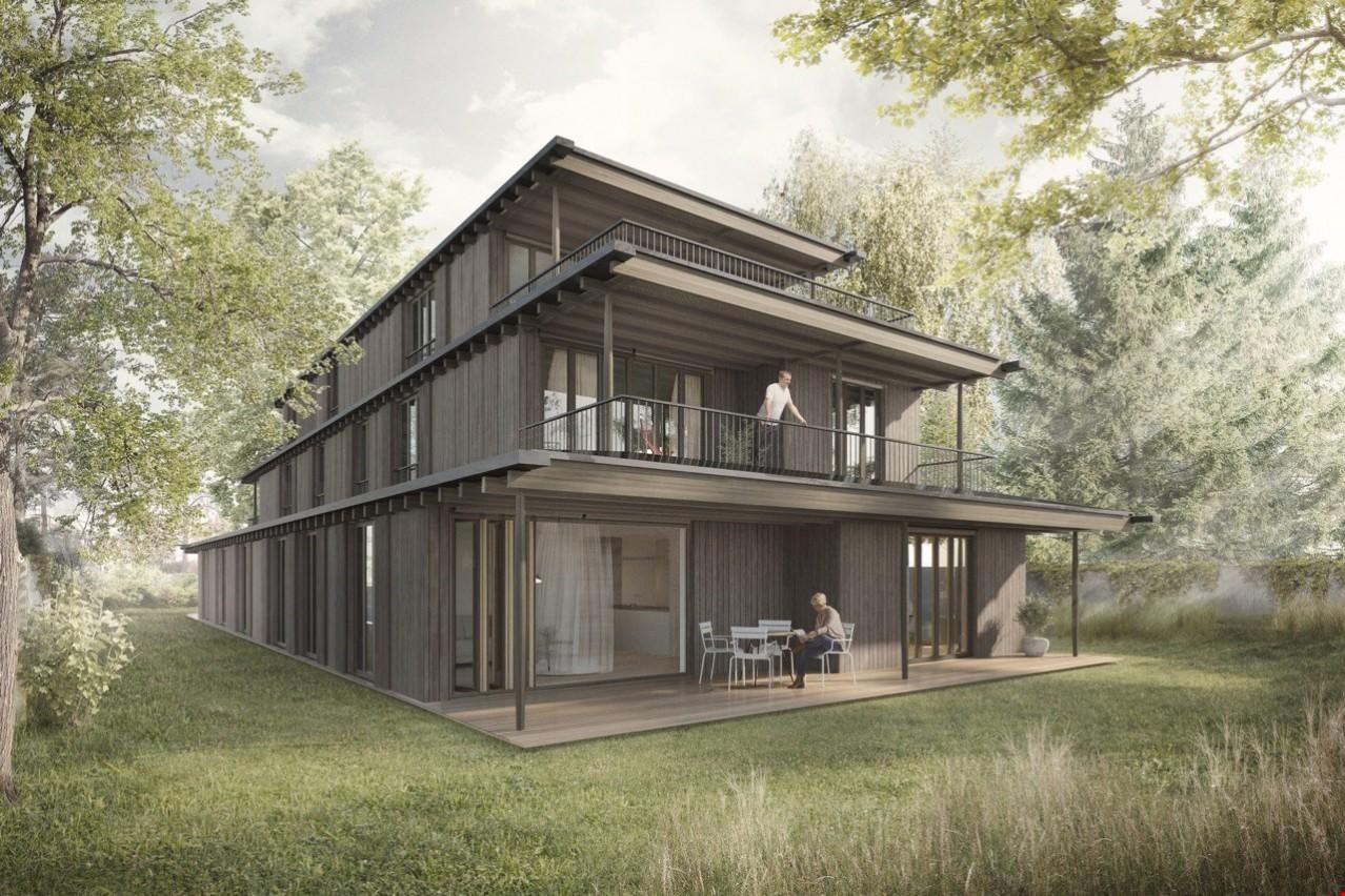 Neubau mehrfamilienhaus mit 5 wohnungen in riehen for Mehrfamilienhaus neubau