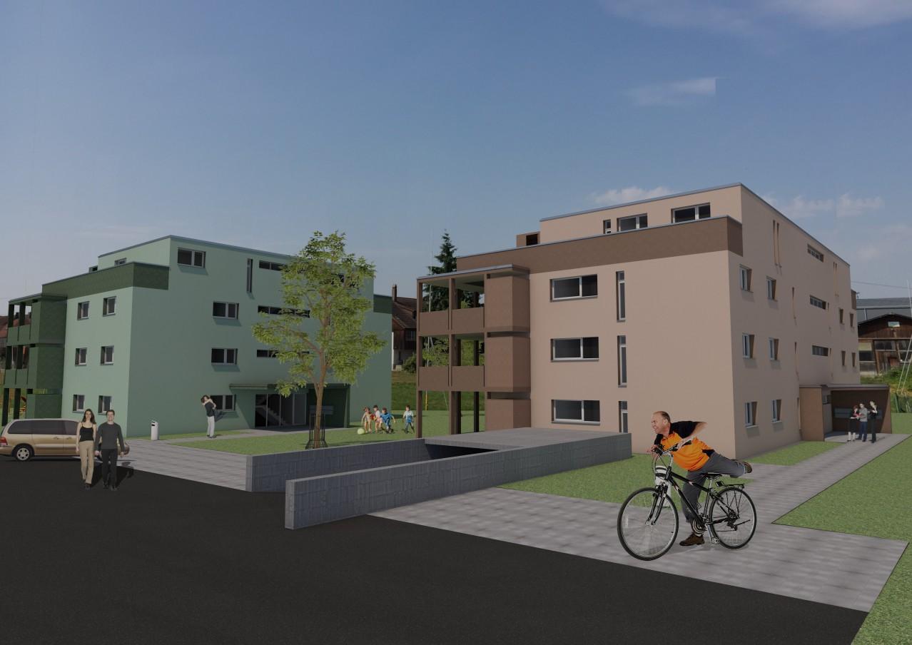 Neubau von 2 MFH mit 18 Eigentums-WHG\'s mit ausgezeichneter Aussicht ...