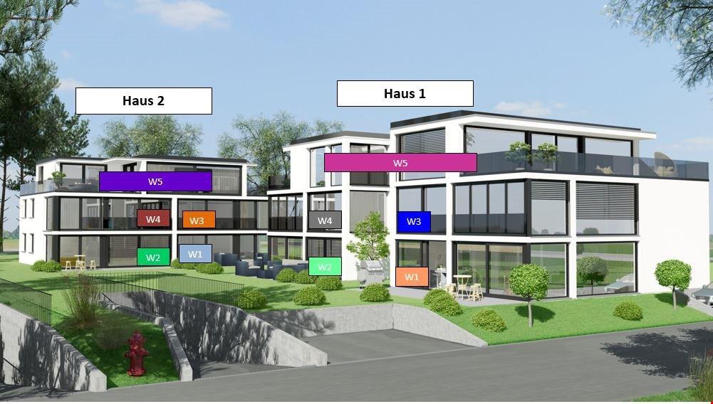 Verkauf: Neubauwohnung mit Aussiht auf den Rhein