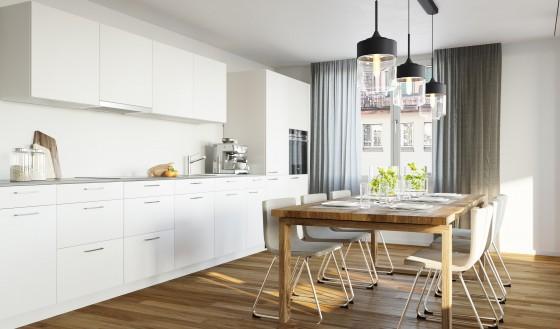Küche + Esszimmer