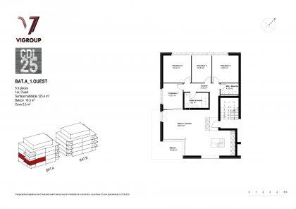 1er étage - 5.5 pièces - Ouest