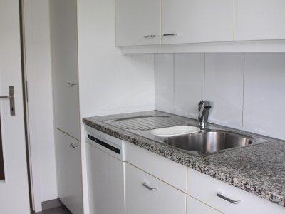Küche mit grossen Kühlschrank/Gefrierschubladen