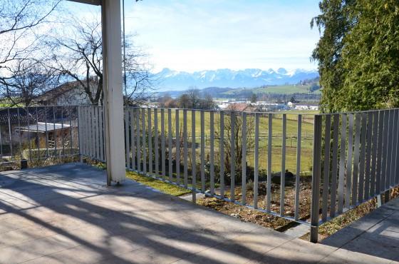 Aussicht von gedeckter Terrasse