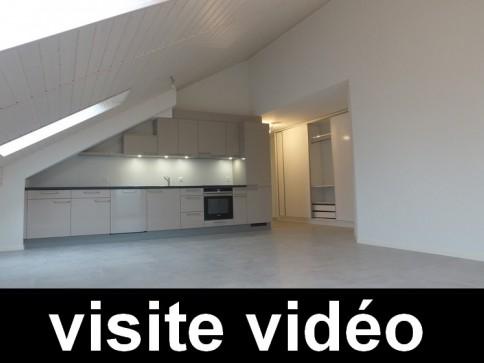 Bel appartement 3.5 pces de 77 m2 neuf en attique à Thierrens VD