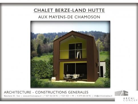 Chalet contemporain 3.5 p aux Mayens-de-Chamoson