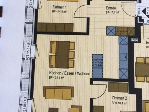 Erstvermietung 3.5 Zi-Wohnung mit Einstellhallenplatz