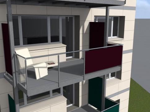 Magnifique 3.5 p. avec balcon-terrasse avec vue à La Chaux-de-Fonds