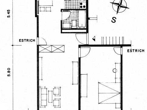 2 1/2 Dachzimmer-Wohnung