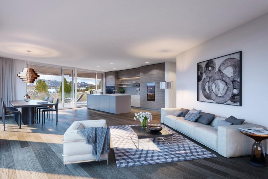 5 5 zi wohnung mfh b bellerive wohnen am see in luzern b immoscout24. Black Bedroom Furniture Sets. Home Design Ideas