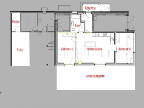 Erstbezug: 3 Zimmerwohnung im Herzen des Gürbetals