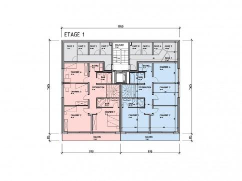 Grand duplex de 5,5 pièces avec terrasse, finition au gré du preneur