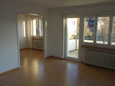 Ruhige Wohnung mit Sicht auf Alpen