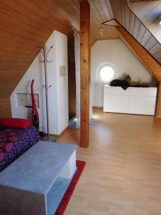 Hübscher, kleiner Raum zum Wohnen, Essen und Schlafen