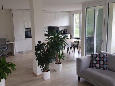 Wohnzimmer und öffene Küche