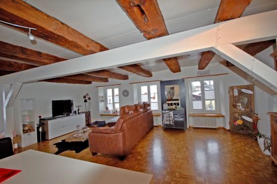 Wohnzimmer 40 m2 mit Cheminée