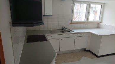 Die Küche mit grossen Arbeitsflächen