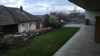 Terrasse gedeckt und offen