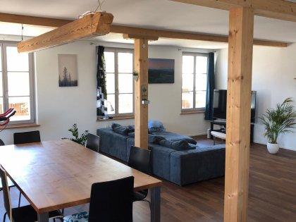 Wohnraum aus Sicht der offenen Küche