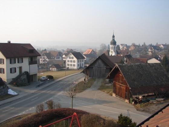Aussicht übers Joner Dorf